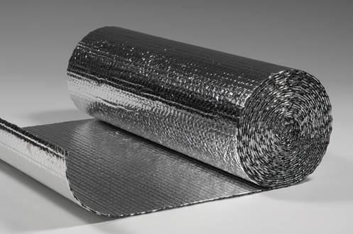 Noppenfolie aluminium